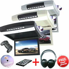 "10.1"" Flip Down Car Roof Monitor Auto Ceiling Overhead HD LED Screen DVD Player"