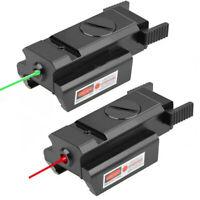 Mini Green/Red Dot Laser Sight Low Profile For Rifle Handgun 20mm Picatinny Rail