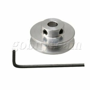 7mm Hole Diameter V-type Step Pulley Wheel Fit with 3-5MM PU Round Belt Silver