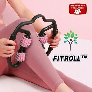 FITROLL™ Massagen Roller 3in1 Fitness Rolle Armmassage Beinmassage Nackenmassage