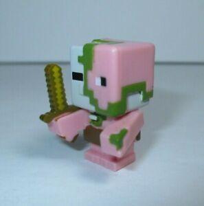 "Minecraft Mini-Figures Stone Series 2 1"" Zombie Pigman Sword Figure Mojang"