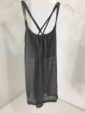PRANA WOMEN'S MIKA TEXTURED STRAPPY TOP MOONROCK MD NWT $59
