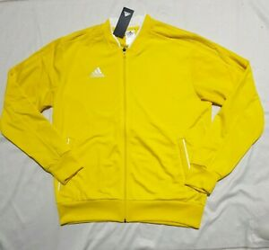 ADIDAS MEN'S CONDIVO 18 TRACK TOP JACKET YELLOW CF4320 - L - RRP £43