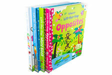 Lift The Flap Usborne Felicity Brooks 4 Books Set Collection Number Wordbook