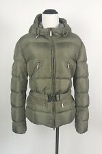 ADD Beige Quilted Goose Down Belted Puffer Jacket Size 10