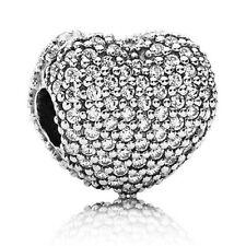 Authentic Pandora Charm Pave' Open My Heart Clip 791427CZ