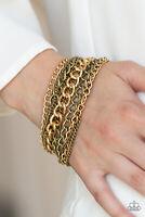Paparazzi Jewelry Bracelet ~Metallic Horizon - Brass