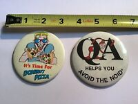 Domino's Pizza Vintage Pins Lot Of 2 Avoid The Noid
