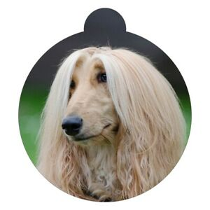 Afghan Hound Breed Picture Pet ID tag