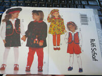 NEW UNCUT VINTAGE BUTTERICK GIRL'S CHILD PATTERN RUTH SCHARF 3648 SIZE 2-3-4