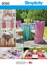 Simplicity Pattern 8066 TABLE ACCESSORIES linens napkins table settings
