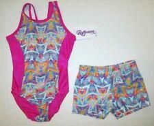 Leotard Shorts Set New Girls Size 4 Xs Child Dance Gymnastics Reflectionz Lot S