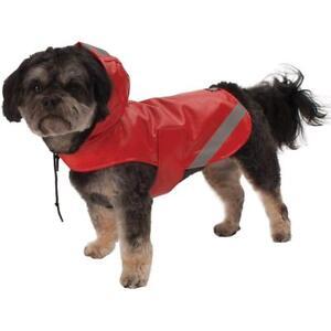 PETRAGEOUS DOG RAIN COAT LONDON SLICKER LARGE RED (NO RETURNS). TO USA