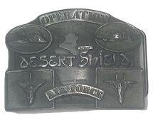 Operation Desert Shield Air Force Belt Buckle Connection USAF 1990 Limited Ed