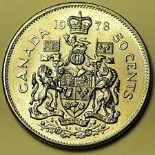 1978 CANADA Half Dollar 50 Cent Coin AU