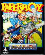 PAPERBOY Lynx Atari Collectors!! FACTORY SEALED COMPLETE!!!