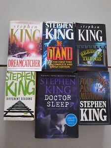 X6 STEPHEN KING vinatge book bundle, NEEDFUL THINGS, different seasons, STAND