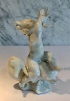 KPM Berlin Porcelain Blanc de Chine Putti with Dolphin