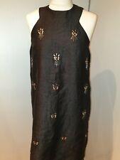 Topshop Black Embellished Dress Size 12 day evening  dress lovely condition