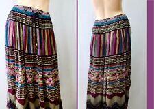 Sag Harbor Hippy Boho Crinkle Broomstick Mid Skirt M