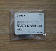 Canon Dioptric Adjustment Lens E +1.5 Genuine Original for Canon EOS