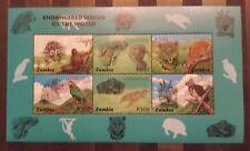 F.499.Briefmarken Tiere Sambia KB.,postfrisch