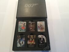 Official James Bond 007 Set of 6 Movie Poster Metal Pin Badges NEW BNIB Gift