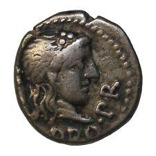 M. Porcius Cato 47-46 BC Silver Quinarius Utica Mint Ancient Roman Republic Coin