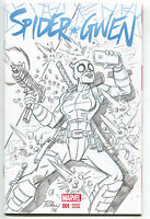 Spider-Gwen 1 Marvel 2015 NM+ Chuck Patton Sketch Cover Gwenpool Selfie Deadpool