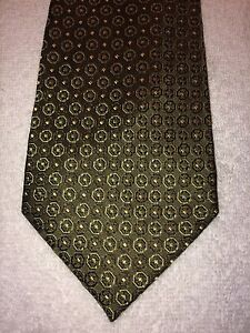 BANANA REPUBLIC MENS TIE 3.75 X 58  SAGE GREEN WITH YELLOW ACCENTS NWOT