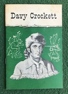 lot of 2 American heroes paper collectables Davy Crockett Daniel Boone 1950s 60s