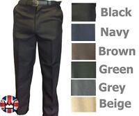 """WWK Mens Kids Formal smart casual trousers W30-48 & BELT leg 31"""" 5 colours"""