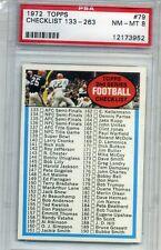 1972 Topps Football #79 - Checklist 133-263 - PSA Graded 8 (Box DP)