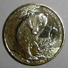 2011 Poland 2 zlote, Badger, wildlife animal coin