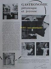 PUBLICITE CURNONSKY PRINCE DES GASTRONOMES OEUF COQ HARDY CHEF CUISINIER 1953 AD