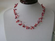 Collier BORDEAUX/ROUGE robe de Mariée/Mariage/Soirée, perles, original