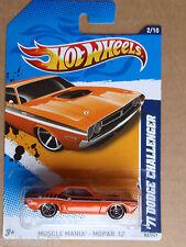 2012 Hot Wheels 71 DODGE CHALLENGER 82/247 Mopar INTERNATIONAL CARD Orange
