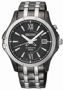 Seiko SKA551 SKA551P9 Mens Kinetic Watch black NEW WR50m RRP $699.00