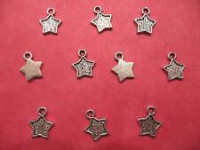 Tibetan Silver Star Charms  10 per pack