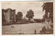 Bowling Green - Guildford Photo Postcard c1940