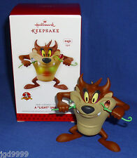 "Hallmark Magic Ornament Looney Tunes A ""Light"" Snack 2013 Taz Eats Light String"