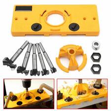 35MM Concealed Hinge Hole Jig Guide + Forstner Drill Bit For Cabinet Woodworking