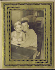 WWII Photograph Navy Sailor with Girlfriend
