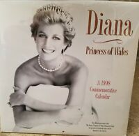 DIANA PRINCESS OF WALES FACTORY SEALED 1998 CALENDAR COMMEMORATIVE NEW SEALED