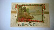 "Antique Embossed Postcard 1907-15 "" A Happy New Year """