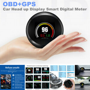 Car SUV Head up Device OBD+GPS Smart Digital Fault Code Clear LCD Meter Fuel RPM