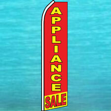 APPLIANCE SALE FLUTTER FLAG Tall Curved Top Advertising Feather Swooper Banner