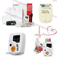 CE 12 canali ECG ECG Holter, 48 ore di monitoraggio frequenza cardiaca, OLED software libero
