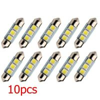 10x 5050 3SMD LED Dome Car Interior Wedge Light License Plate Trunk Lamp Bulbs