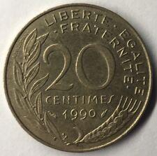 F.156 Monnaie Française 20 Centimes Marianne 1990 Achat Unitaire